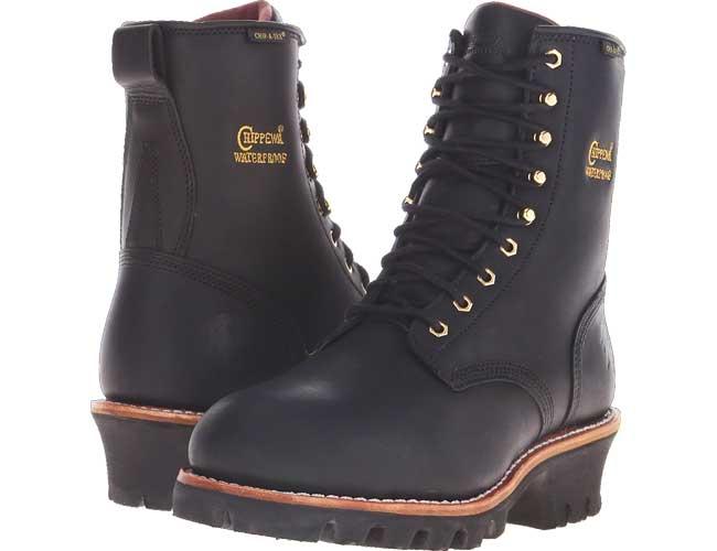 Chippewa steel toe logger boots