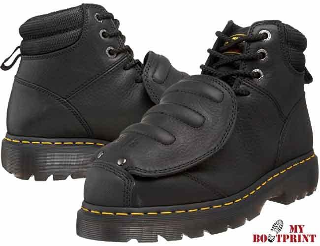 dr. martens men's ironbridge mg st steel-toe met guard boot