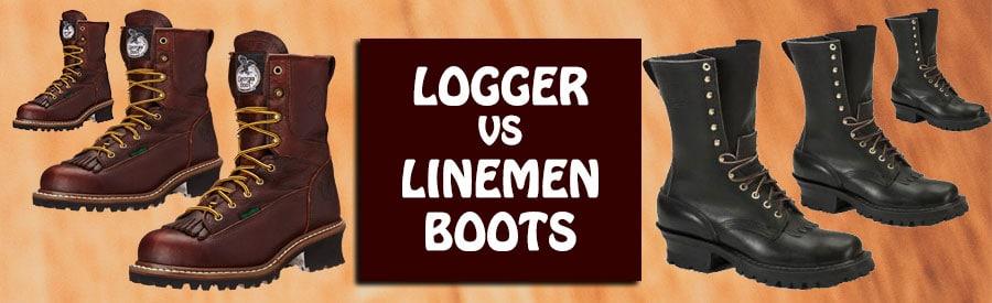 logger vs lineman boots